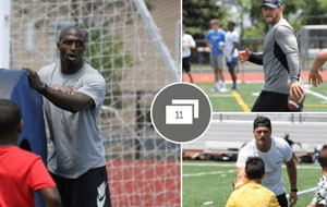 Former Rutgers stars at injury prevention youth clinic (PHOTOS)